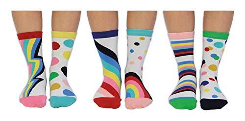 (Damen-Socken, Motiv: Follow Your Rainbow – United Oddsocks – 37-42, 6er-Pack)