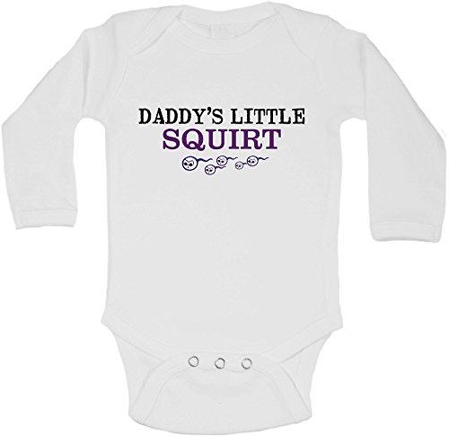 daddys-little-squirtpersonalisierte-lange-rmel-baby-westen-bodys-baby-wchstunisex-jungen-mdchenwei-w