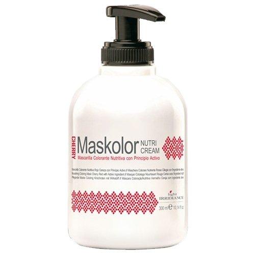 Light Irridiance Maskolor Nutri Cream Cherry - Mascarilla colorante nutritiva rojo cereza 300mL