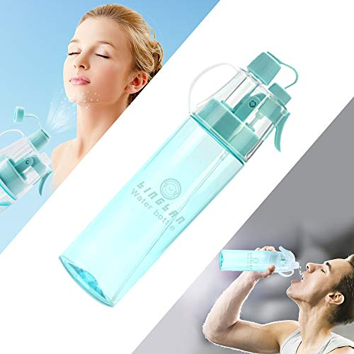 LINGLAN Spray Water Bottle Sport...