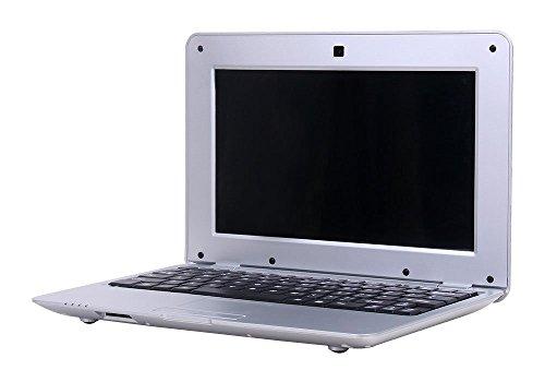 Fancy Cherry Nueva 2017HD 10Pulgadas Mini Laptop Notebook Netbook Tablet Computer 1G DDR3través WM8880CPU Dual Core Android de Pantalla Cámara WiFi Teclado USB HDMI Netbook 4G-Silber