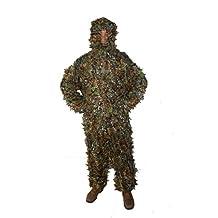 Ghillie Suit, foglie e Yowie, motivo: tuta mimetica Ghillie per caccia, taglia: L - Ghillie Suits Suit