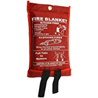 Fire Blanket, Large, Quick Unfolding, with Loops, 1 x 1 m