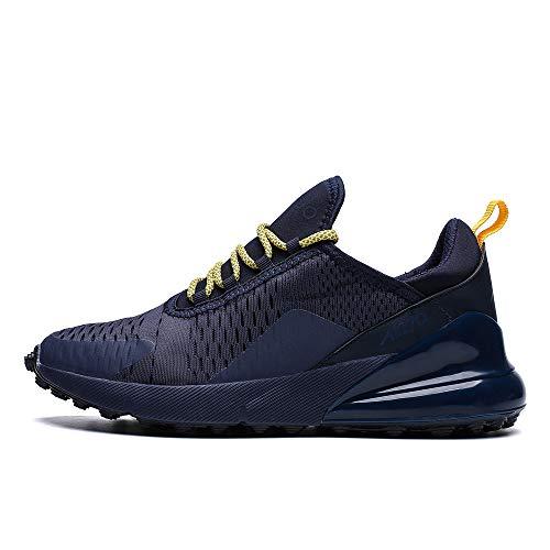 Rotok Herren Damen Sportschuhe Straßenlaufschuhe Sneaker Leichtgewichts Turnschuhe Outdoor Laufschuhe Atmungsaktive Fitness Schuhe, Blau-2702, 36 EU