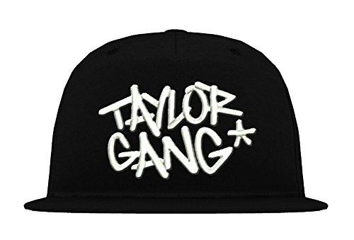 TRVPPY 5 Panel Snapback Cap Modell Taylor Gang Wiz Khalifa, Weiß-Schwarz, B610
