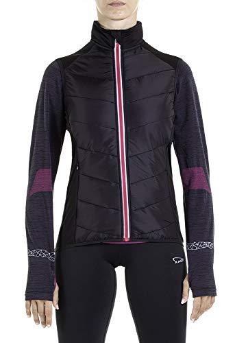 XAED, giacca da corsa, da uomo, colore nero/fucsia, taglia L