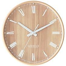 Reloj de Pared Salón Creativo Reloj silencioso Reloj de Madera nórdica Reloj Simple Reloj de Pared