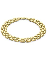 Carissima Gold 9ct Yellow Gold Square Design Bracelet  of 20.32cm