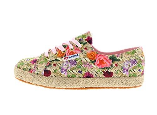 Superga Damen 2750 Fabricfanplropew Sneakers Mehrfarbig (weaving natural  pink) ...