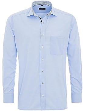 Eterna Herrenhemd Herren Baumwoll Hemd Baumwollhemd Business Freizeit Langarm Modern Fit Hellblau