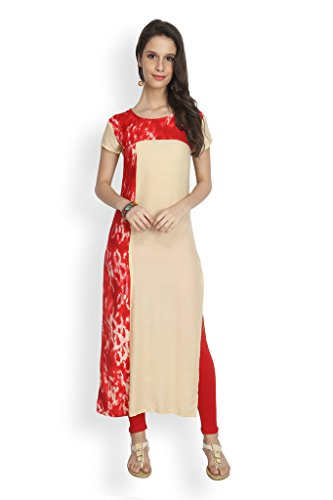 Eternal Women's Rayon Stylish Long Kurti( TSFK004_M, Navy Blue)  available at amazon for Rs.399