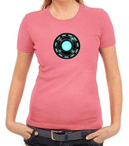 Kult Film Damen T-Shirt mit Arc Reactor Motiv von ShirtStreet Rosa
