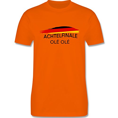 EM 2016 - Frankreich - Deutschland Achtelfinale Olé Olé - Herren Premium T-Shirt Orange