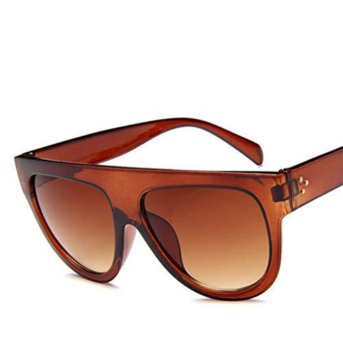 ZHOUYF Sonnenbrille Fahrerbrille Flache Oberseite, Super Große Quadratische Sonnenbrillen, Damensandwich, Klassische Sonnenbrillen Für Damen, Brillen Uv400, D