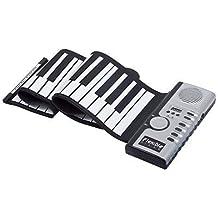 Minkle®Digital teclado de piano de 61 teclas flexible plegable portátil eléctrica rollo digital hasta teclado de piano