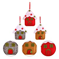 ‏‪KESYOO Christmas Tree Pendant Church Snow House Adornment Xmas Tree Decorations Christmas Gift 3Pcs‬‏