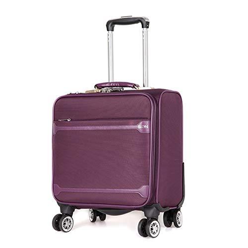 AGW 16-Zoll-Oxford-Stoffkoffer, Mini-Reisekoffer, Business-Koffer, 4 um 360 ° drehbare Atemgeräte, männliche Passwortbox, weiblicher Bordkoffer, 3,5 kg (40 cm - 35 l)-purple-16inch-40 * 25 * 40CM