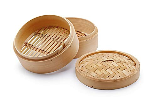 CHIO Cuoci Vapore, Bambù, Beige, 18 cm, 3 Pezzi