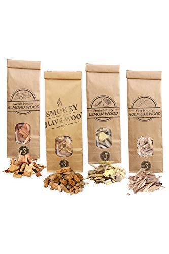 Smokey Olive Wood Sow 4X 500mL Selección virutas