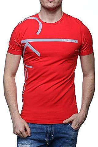 Calvin Klein - T Shirt J30j304815 Tribec 678 Rouge - Couleur Rouge - Taille M