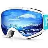 Findway Gafas de Esquí,Máscara Gafas Esqui Snowboard Nieve Espejo para Hombre Mujer Adultos...