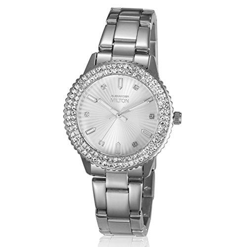 ALEXANDER MILTON - montre femme - VESTA, argente