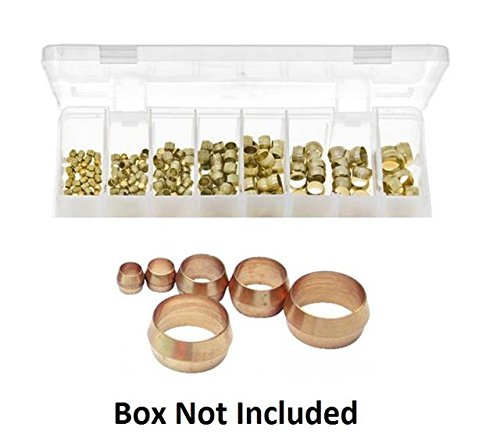 10 X 3/16 Brass Olive Barrel Plumbing Olives Compression Fitting Copper Pipe Gas Test