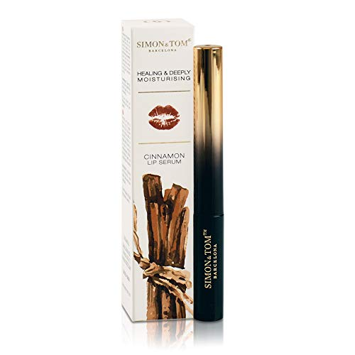 Simon & Tom Cinnamon Lip Serum, für voluminöse, kraftvolle und hydratisierte Lippen. -