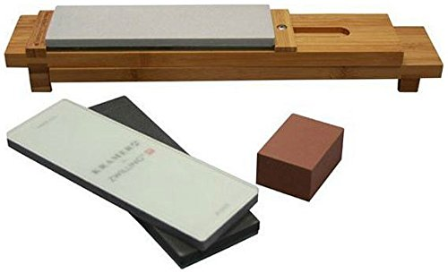 """ZWILLING J.A. Henckels 34999-403 6-pc Glass Water Stone Sharpening Set, 16"""""""