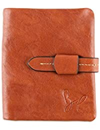 ROHIT BAL Men's Leather Stitch Clip Wallet with Card Holder and Slip Pocket