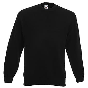Fruit of the Loom Drop Shoulder Sweatshirt Black S