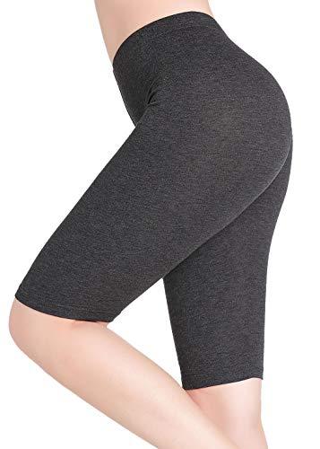 CnlanRow Damen Schlaf Unterrock Hose Kurz Leggings Knielang - Leicht Stretch Weich - Leichte Stretch-leggings