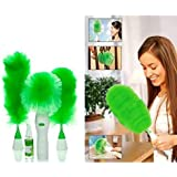 Anva Creative Hand-Held | Sward Go Dust Electric Feather Spin Home Duster| Green. Electronic Motorized Cleaning Brush Set
