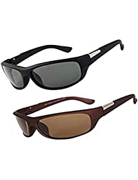 Y&S Aviator Men's Sunglasses -(55|Black & Brown)