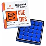 KBA Brunswick blue diamond 9mm cue tip-50pcs