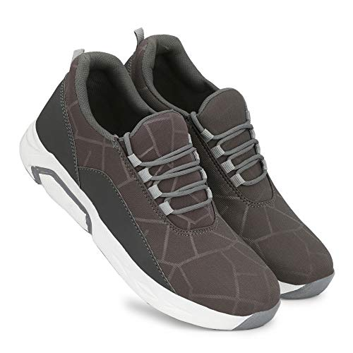 King Karlos Men's Casual Shoes/Sports Shoes for Men's/Running Shoes for Men's Grey