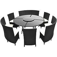 Gartenstühle rattan rund  Suchergebnis auf Amazon.de für: Polyrattan sitzgruppe rund - Möbel ...