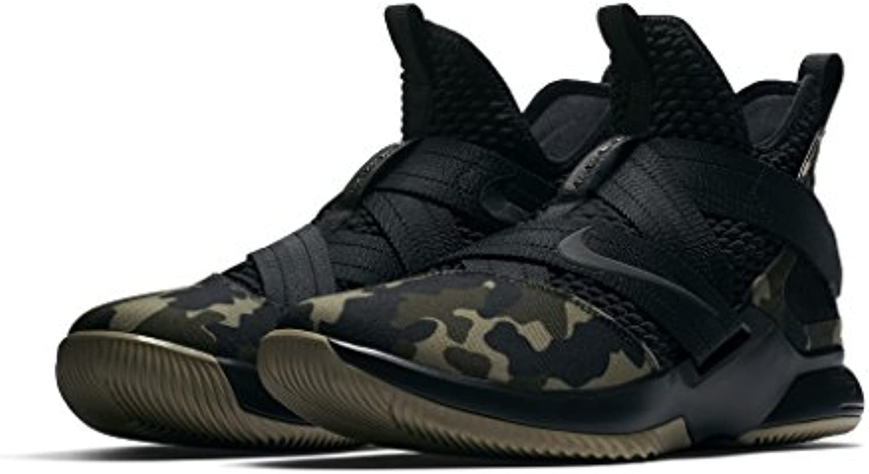 Nike Herren Lebron Soldier XII SFG Schwarz Mesh/Synthetik Basketballschuhe