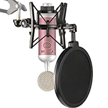 Blue Spark Mic Shock Mount with Pop Filter to Reduce Vibration Noise, Shockmount Matching Mic Boom Arm Stand for Blue Spark SL Microphone by YOUSHARES