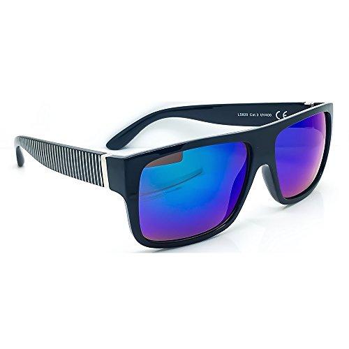 Kiss Sonnenbrille stil JACOBS Gespiegelten REVO - mann frau FLAT TOP vintage super cool - SCHWARZ/Ocean