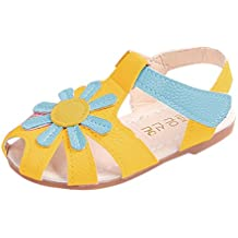 SOMESUN Sandali da Bambina per bambini Principessa Scarpe Spiaggia Baotou  Sole Morbidi Estivi Bambino Fondo Morbido 5609fa2c065