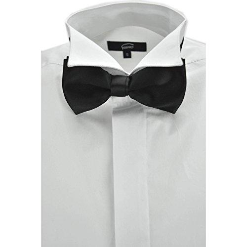 Grino firenze camicia uomo smoking bianca collo coda di rondine polsino gemelli cerimonia - s