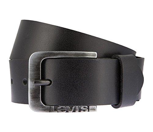 LEVIS Cintura di uomini Cintura di Pelle nero 2659, Länge:100 cm;Farbe:schwarz
