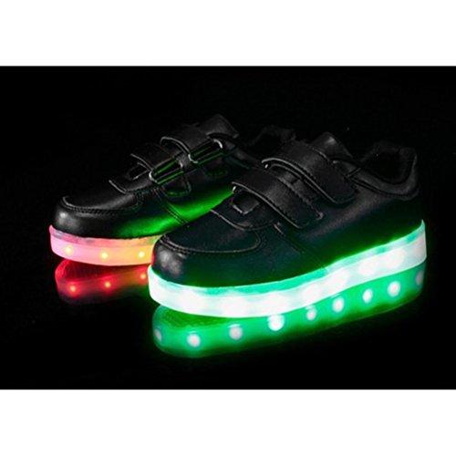 Turnsc Sportschuhe Wiederaufladbare Led Unisex Schwarz kleines Handtuch Luminous junglest® Leuchten Flashing Glow present Kids qw7X6q8