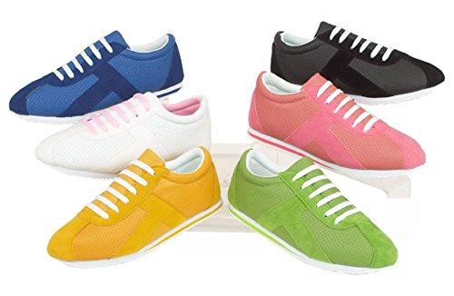 Chaussures décontractées pour femme - Sport - À lacets Bleu - bleu
