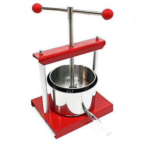 Presse à fruits Pressoir à vin Acier 3l Cuve en acier inoxydable Pressoir à fruits Presse de Baies