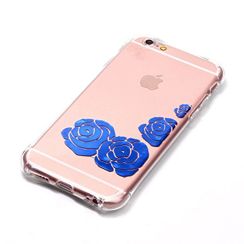 Voguecase® Pour Apple iPhone 4 4G 4S, TPU avec Absorption de Choc, Etui Silicone Souple, Légère / Ajustement Parfait Coque Shell Housse Cover pour Apple iPhone 4 4G 4S (Lapin-Gris)+ Gratuit stylet l'é Rose bleue