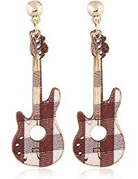 J Meng Pendientes de Gota para Guitarra de Madera, diseño de Rayas Creativas y Huecas