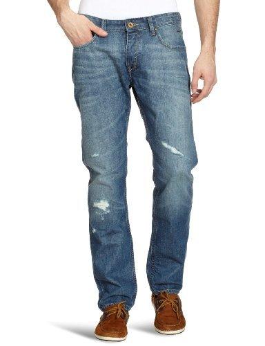 Cross Jeans Herren Jeans Comfort Fit F 191-331 / Bruce adriatic mid / blue used