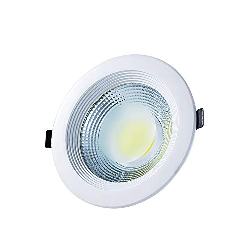 Mumnk 5 Zoll Ultra Slim Runde Strahler Aluminium Einbaudownlight Decke Baffle Trim Ausschnitt 105-120mm15W Super Bright Flat Panel Down Lampe Integrierte Bekleidungsgeschäft Mall Hall Grille Beleuchtu -